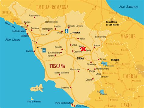 Chianti Italy Map vineyards and castles on horseback timeless italy travels