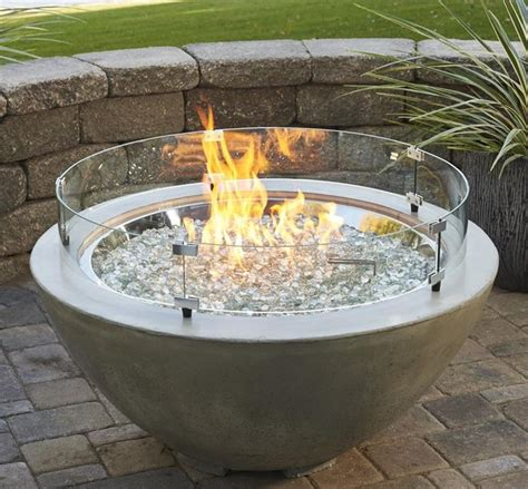 Fire Pit Glass Wind Guards From The Outdoor Great Room Pit Glass