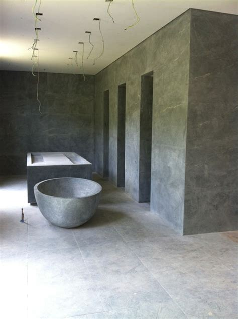 Soapstone Tub modern soapstone bathroom in brazil modern bathroom new york by m teixeira soapstone