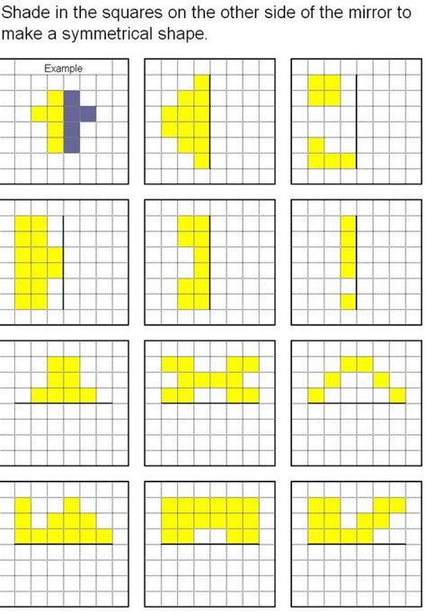pattern with one line of symmetry free worksheets 187 pattern symmetry worksheets free math
