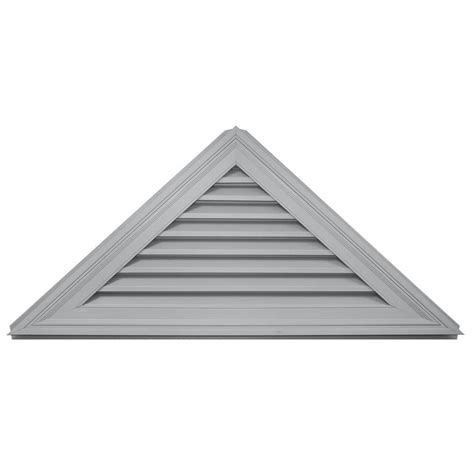 Triangular Gable Builders Edge 11 In X 48 In Ridge Vent Plus 10 Pieces