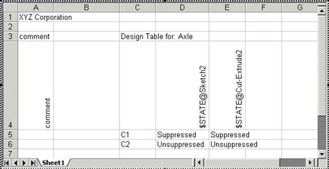 2012 solidworks help formatting a design table