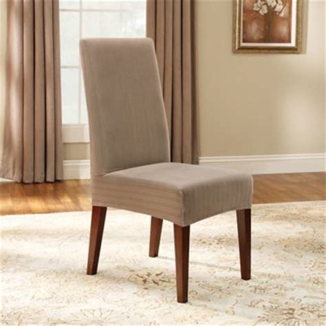 Sure Fit Stretch Pique Shorty Dining Room Chair Slipcover Pique Dining Room Chair Cover Dining Room Chair Cover Dining Room Chair Covers