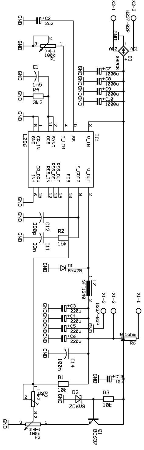 Power Supply Switching Modulr Oscilator Gacun 0 40v adjustable switching dc dc power supply circuit l296 electronics projects circuits