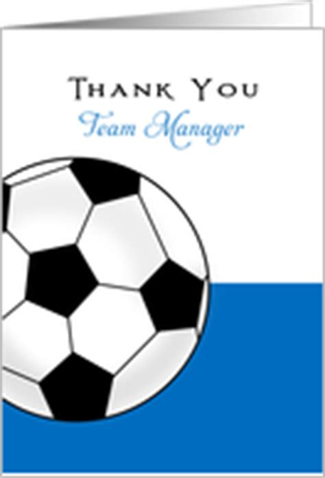 thank you letter to team manager thank you cards for soccer team manager from greeting card