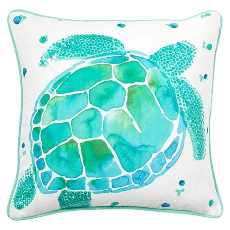 sea creature pillow cover pbteen
