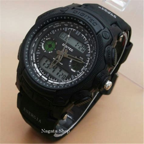 Jam Digitec Black Blue jual jam tangan digitec dg2023 black blue original