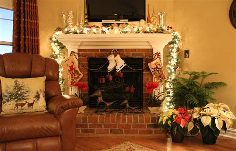 festive decorations christmas fireplace fire holiday festive decorations j