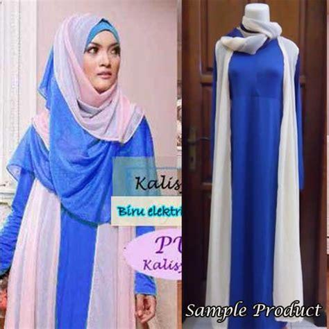 Set Diana Adidas Setelan Bahan Spandek baju muslim modern kalisyah p917 sifon gamis syari