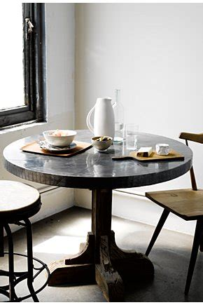 anthropologie wood metal farmhouse pedestal dining table tables dining room furniture