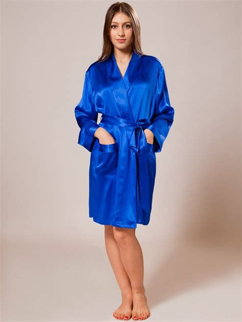 silk robe blue silk robes sw46blu