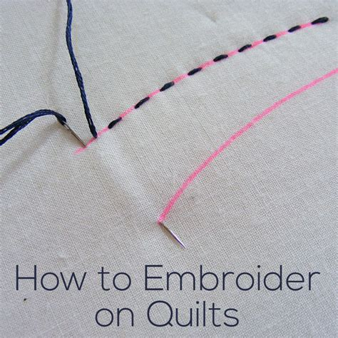 How To Do Quilting by How Do I Embroider On Quilts Shiny Happy World