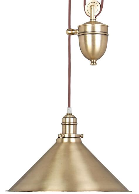 Pulley Ceiling Light Elstead Provence Rise Fall Pulley Ceiling Light Aged Brass Pv P Ab