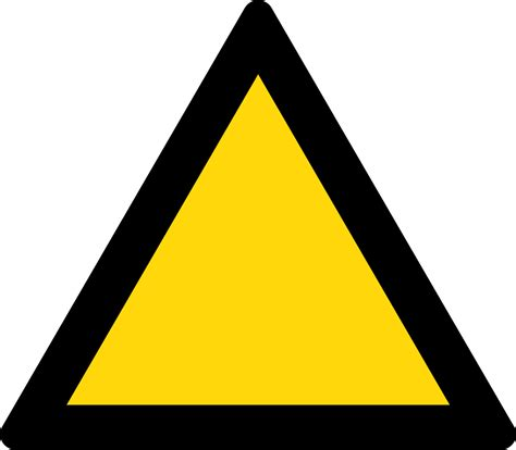 The Sign Black file triangle warning sign black and yellow svg