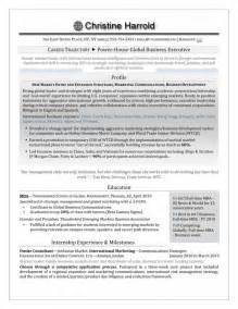 mba grad resume authentic executive resume branding