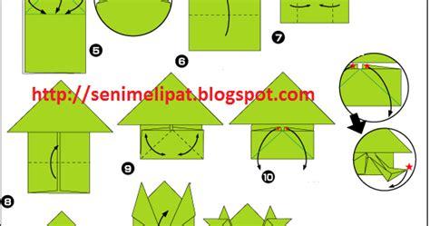 Katak Origami - cara membuat katak dari kertas origami seni melipat