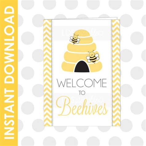 printable welcome card 83 best images about lds yw beehives on pinterest
