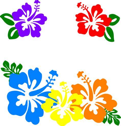 free printable hawaiian flowers hawaiian flower clip art borders clipart panda free