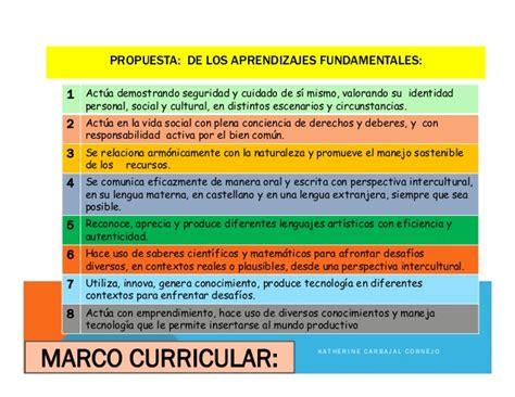 diseo curricular nacional de educacion primaria 2015 marco curricular nacional de educacion 2016 marco