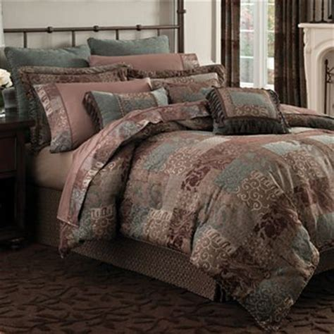 jcpenney king size bedding croscill classics 174 catalina brown comforter set