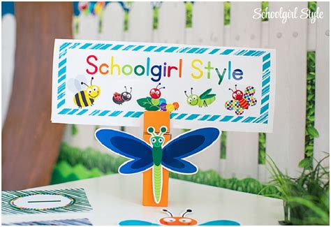 Space Themed Wall Murals bug classroom theme schoolgirlstyle