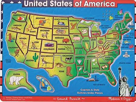 deluxe usa map puzzle childrens doug u s a map sound puzzle free