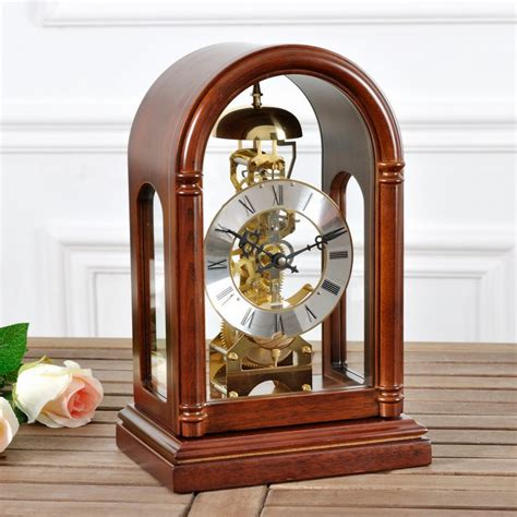 mechanical desk clock maple creative antique mechanical clock desk clock table