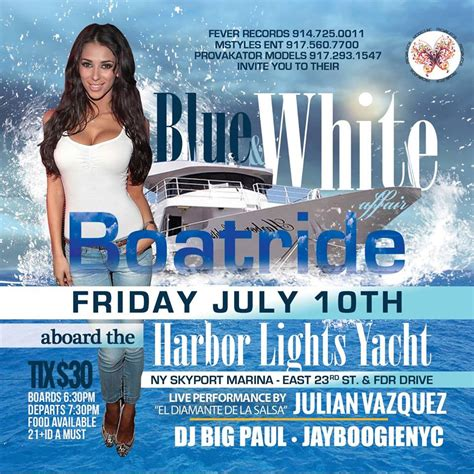 all white affair boat ride nyc the blue and white boat ride fever records artist