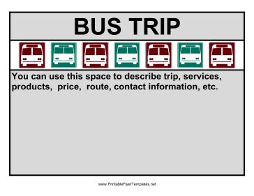 flyer for bus trip