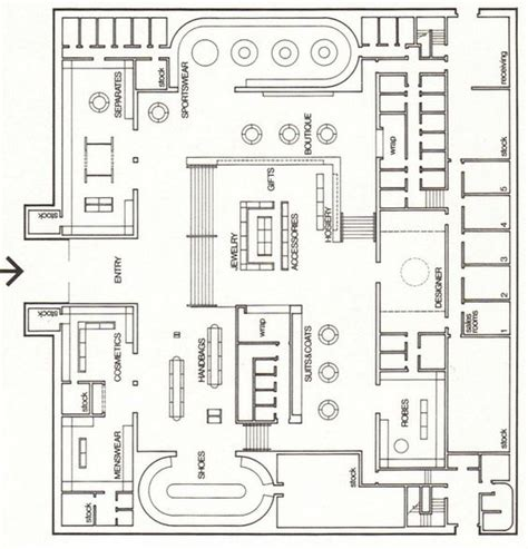 department floor plans department store floor plan arquitetura