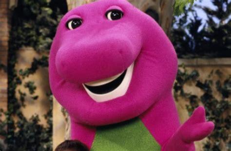 barney tells david joyner talks man purple dinosaur costume