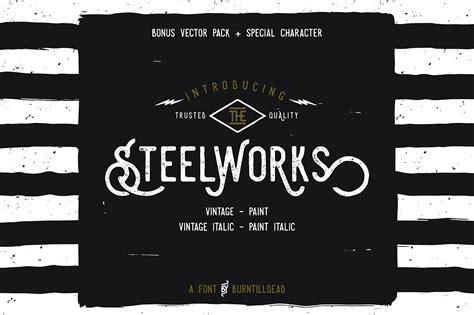 steelworks font befontscom