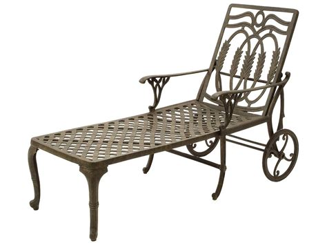 metal outdoor chaise lounge suncoast olympia cast aluminum metal arm chaise su20413