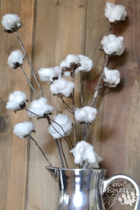 cotton diy christmas cotton stems