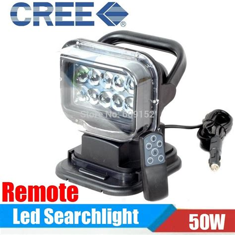led light bar with remote cree 50w high power led searchlight remote control led