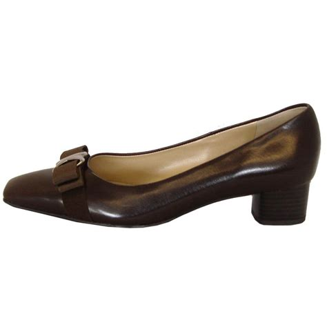 low heel shoes kaiser balla brown leather court shoes low heel