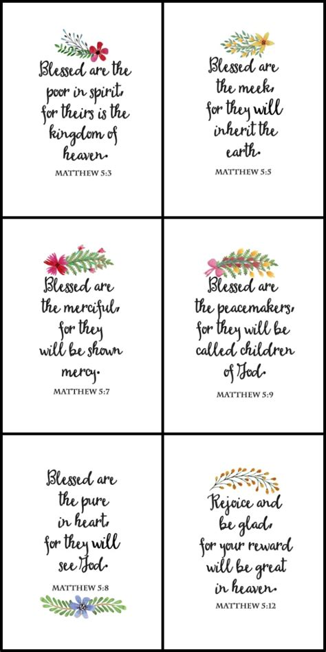 Garden Wall Stickers the beatitudes printable wall art on sutton place