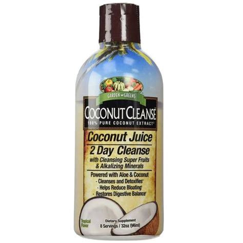 Coconut Detox 2 Day Plan Review by Garden Greens Coconut Cleanse 2 Day Cleanse 32 Fl Oz