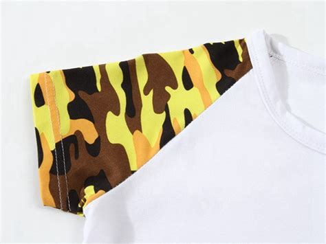 Camouflage Print Crewneck T Shirt design your own t shirts cotton camouflage t