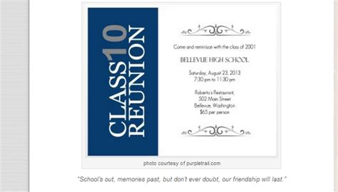 free templates for class reunion invitations class reunion invitations templates free templates