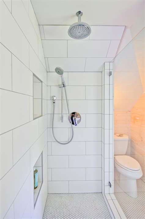 large white subway shower tile in modern farmhouse bathroom module 1 apinfectologia