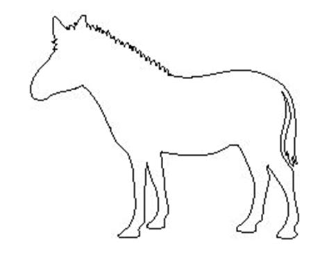 printable zebra print outline 17 best images about craft outline horses on pinterest