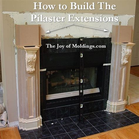 how to build a fireplace mantel how to build fireplace mantel 103 part 7 pilaster