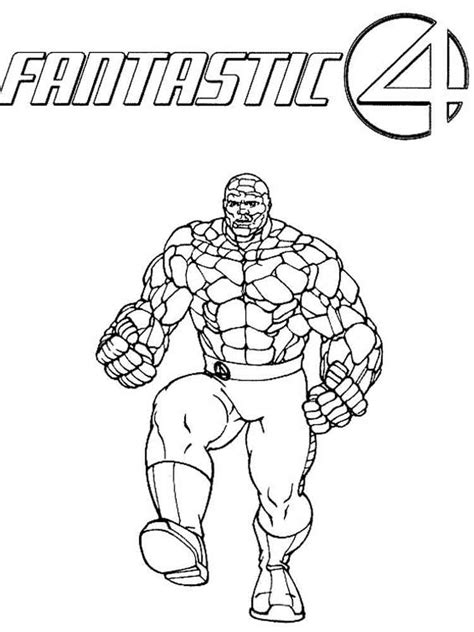 Fantastic 4 Coloring Pages by Fantastic Four Coloring Pages Free Printable Fantastic