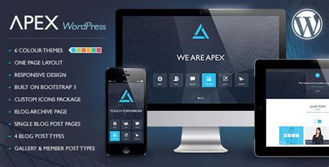 theme wordpress jquery apex responsive html theme site templates themeforest