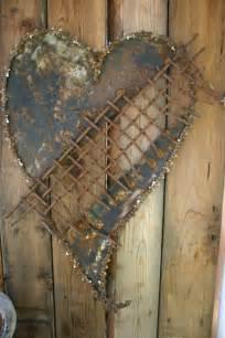 gartendeko aus metall und rost industrieller charakter