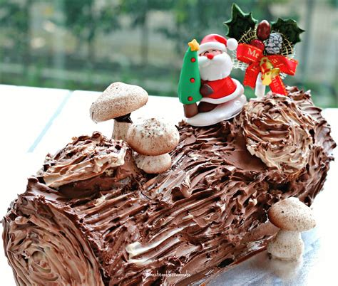 images of christmas logs hands on dark chocolate yule log cake workshop the