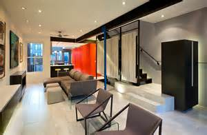 row house design ideas small row house renovation idea bold colors