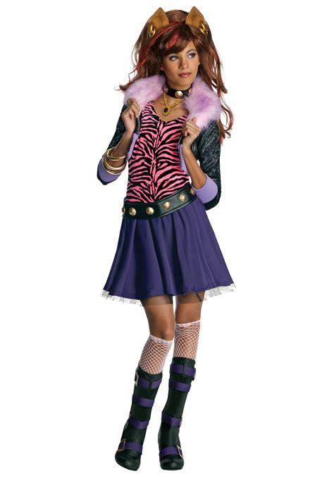 Girls clawdeen wolf costume monster high doll costume