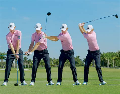 how to swing down on the golf ball swing sequence brandt snedeker australian golf digest